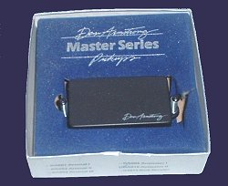 later, as the 80's progressed onward, dan began making his master series�  pickups which were again available in a solid black cast, but this time  with a